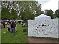 SX9393 : Exeter Respect Festival 2017; wall for support of Manchester by David Smith
