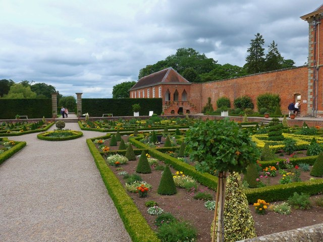 The parterre at Hanbury Hall