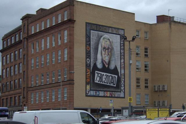 Billy Connolly mural, Osborne Street, Glasgow