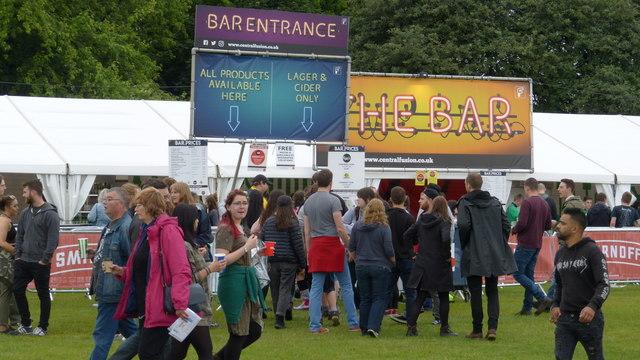 Bar for the TRNSMT festival on Glasgow Green