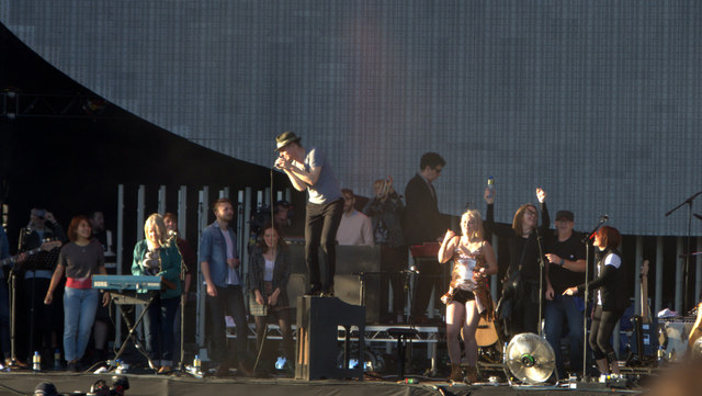 Belle and Sebastian on stage at the TRNSMT Festival, Glasgow Green