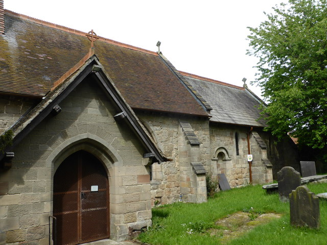 St Giles' Church:  Porch and South elevation