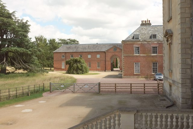 Service wing and Stable Court, Croome Court