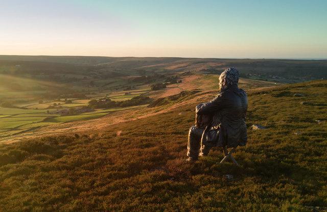 Seated Man on Castleton Rigg