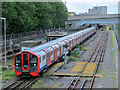 TQ3490 : Victoria Line train south of the Northumberland Park Depot (2) by Mike Quinn