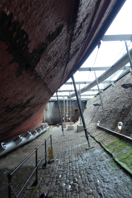 Side of SS Great Britain