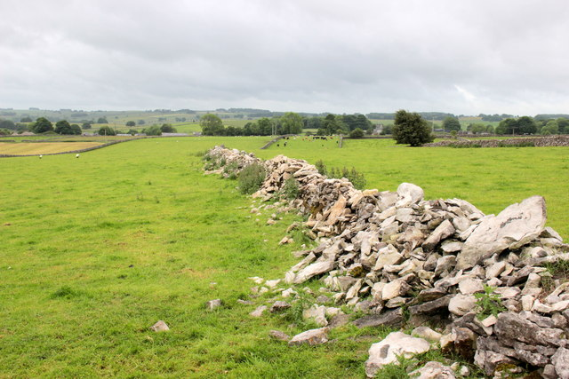 Crumbling Dry Stone Wall, Flagg Lane
