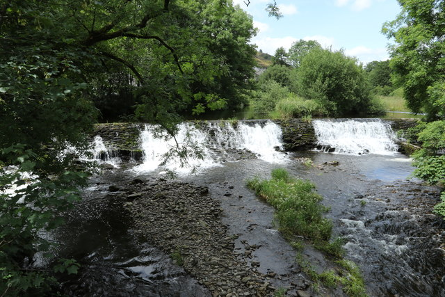 Weir on the River Kent