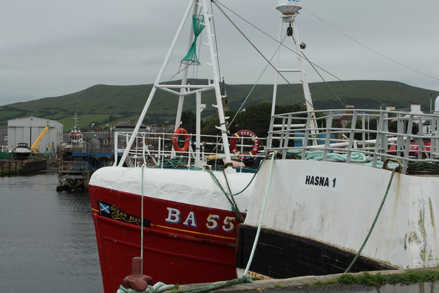 Hasna 1 and Ocean Maid, Girvan Harbour