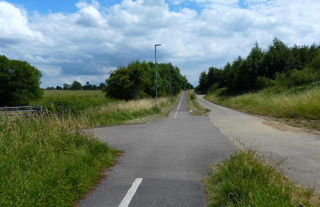 Cyclepath along the route of the old A6