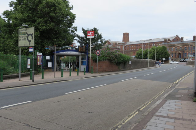 Exeter Central station - the rear entrance