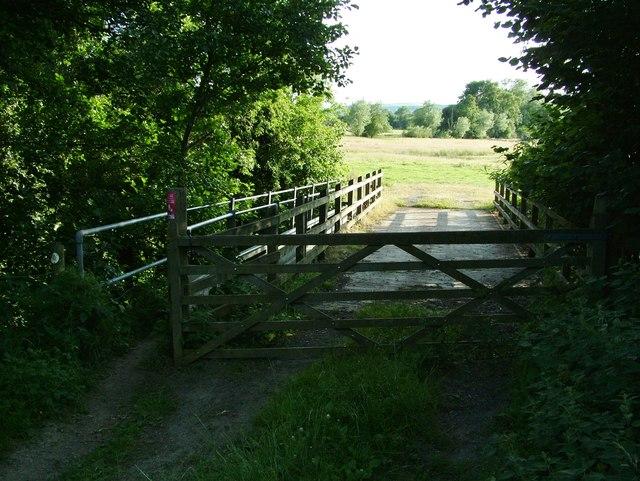 Clun River footbridge, Leintwardine