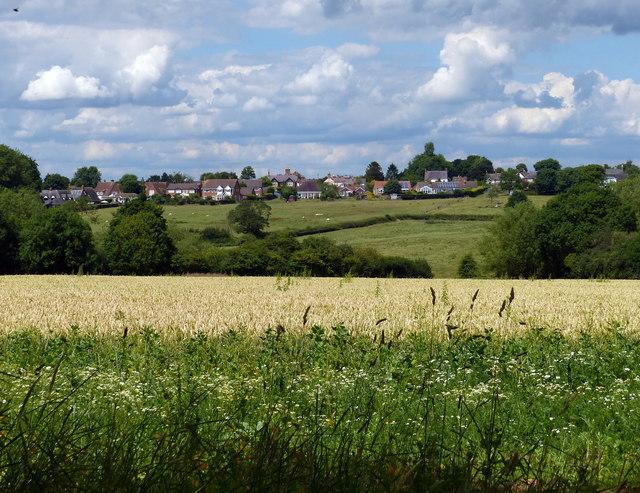 Farmland next to London Road in Great Glen