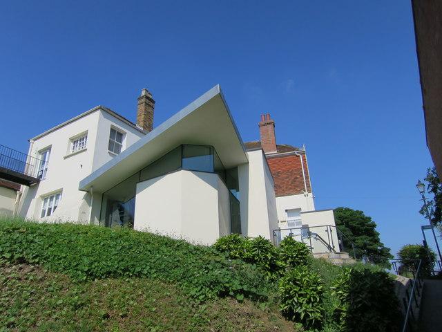 Contemporary extension to rear of Tonbridge Castle
