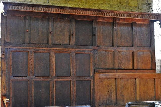 Buckland, St. Michael's Church: Unusual shepherds' pews 2