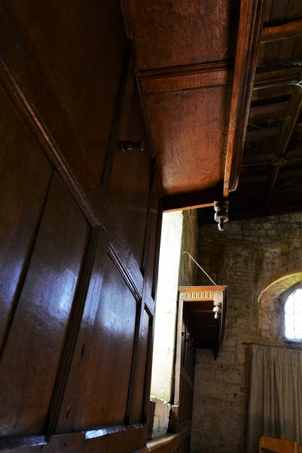 Buckland, St. Michael's Church: Unusual shepherds' pews 3
