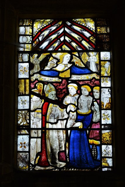 Buckland, St. Michael's Church: Medieval stained glass window 2
