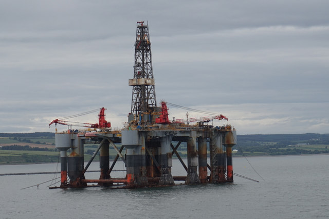 Ocean Princess Oil Rig in Cromarty Firth