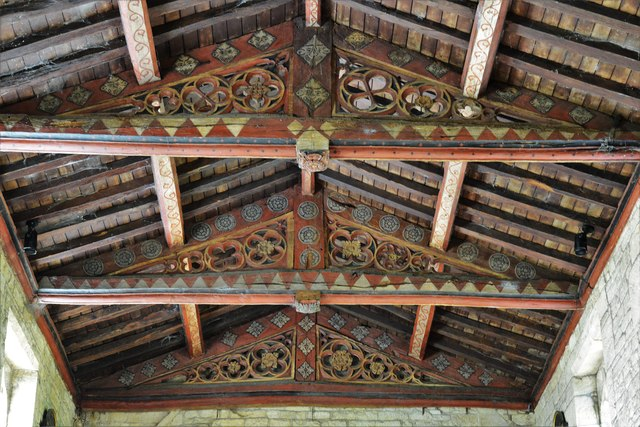 Buckland, St. Michael's Church: The nave roof 1