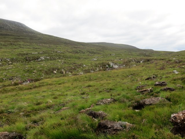 Course of Allt Glac na Doimhne below Suidhe Ghuirmain