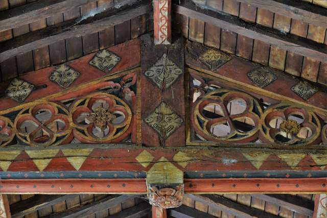 Buckland, St. Michael's Church: The nave roof 2