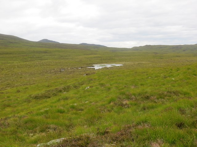 Small hill loch on the moorland