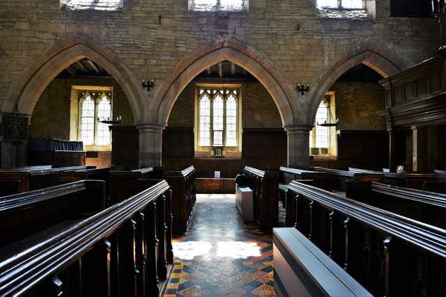 Buckland, St. Michael's Church: From nave to south aisle