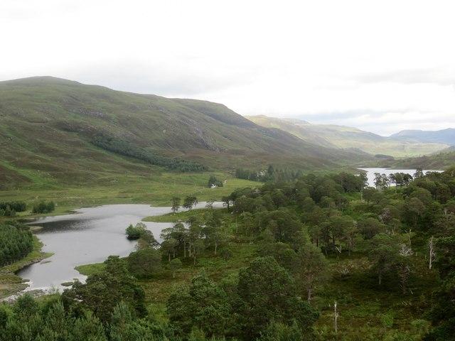 Loch a' Bhana from Mullardoch Dam