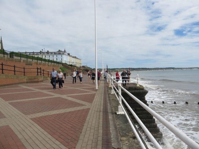 Sea front footpath, Bridlington