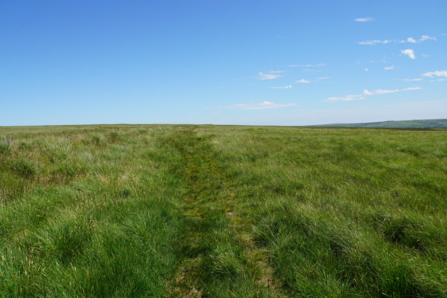 Moorland path on The Chains