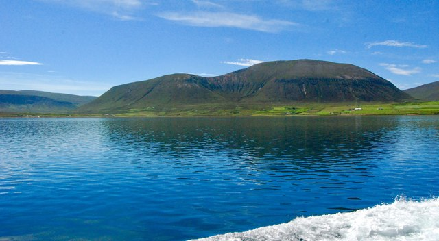 Ward Hill, Hoy, seen from the Hoy Sound