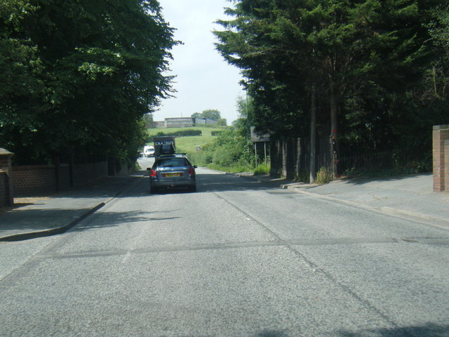 A54 Chester Road leaving Middlewich