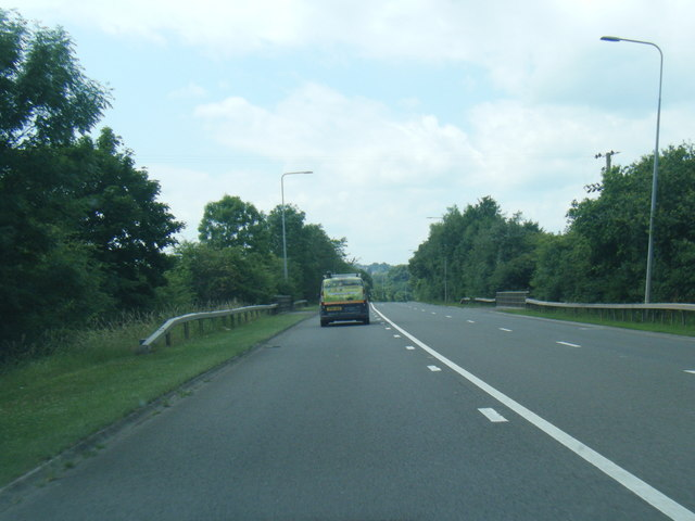 A54 westbound at Gravel