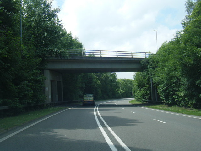 A54 passing under Rilshaw Lane