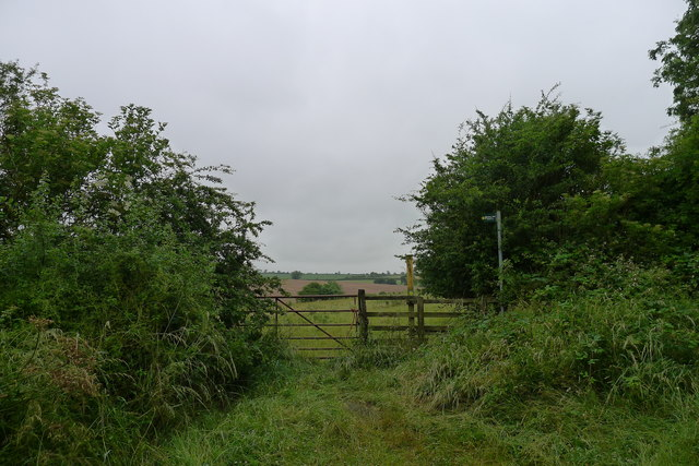 The Mowbray Way leading off the byway near Sproxton