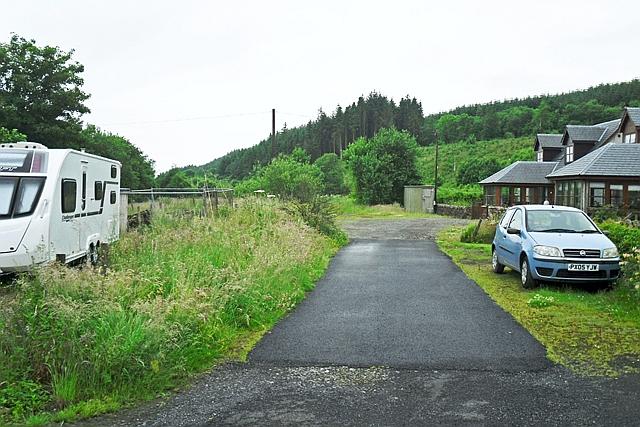 Course of dismantled Waverley railway line