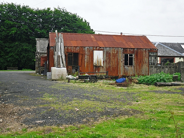 An old corrugated iron shed