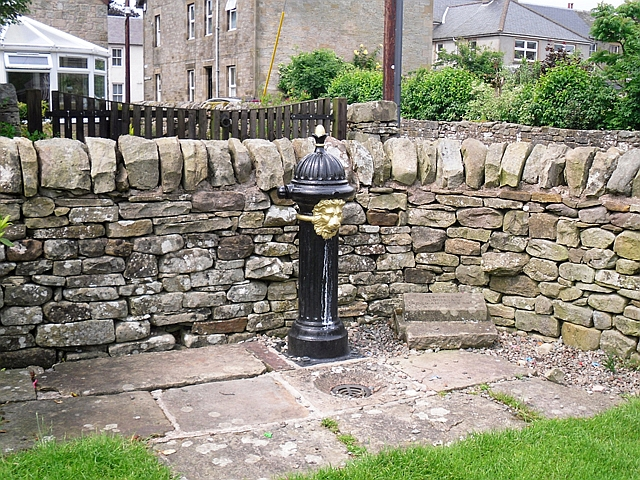 Lion's head drinking fountain