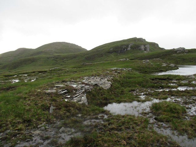Scene below An Grianan near Tongue