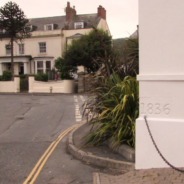 Year 1836 inscribed on the Bath House, Ilfracombe