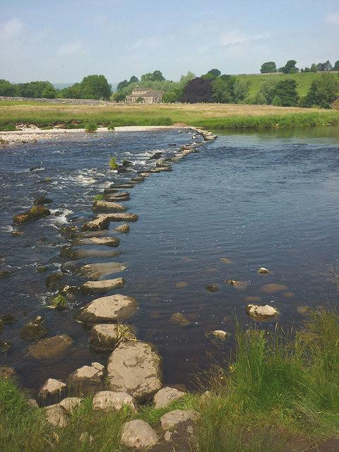 Stepping stones, River Wharfe near Linton Church