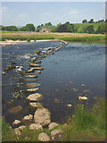 SE0063 : Stepping stones, River Wharfe near Linton Church by Karl and Ali