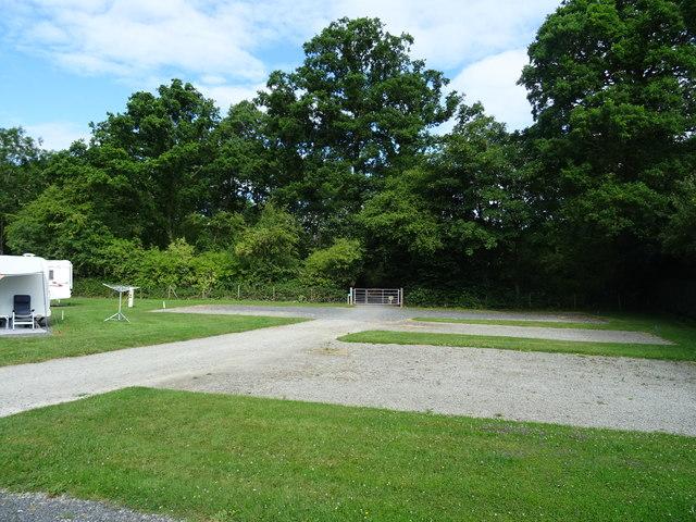 Corner of the Caravan and Motorhome Club Site