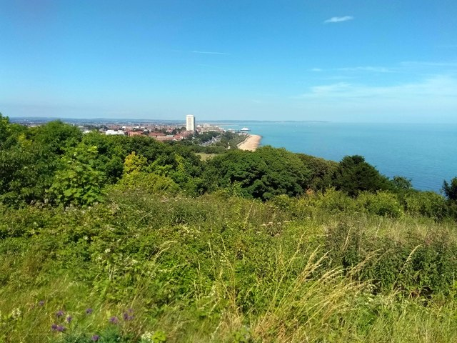View toward Eastbourne from Hollywell