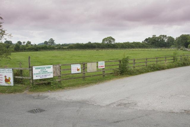Highfields Farm entrance