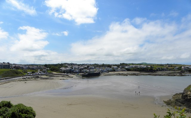 Across the beach at Cemaes