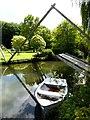 "SP1403 : ""Swing bridge"" at Quenington Old Rectory by Oliver Dixon"