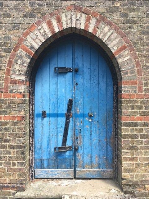 Ongar cemetery chapel door way