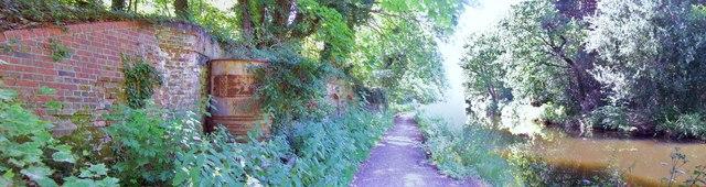 Remains of Railway Bridge, Basingstoke Canal