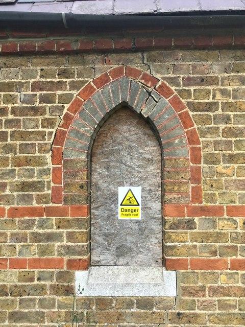 Ongar cemetery chapel window